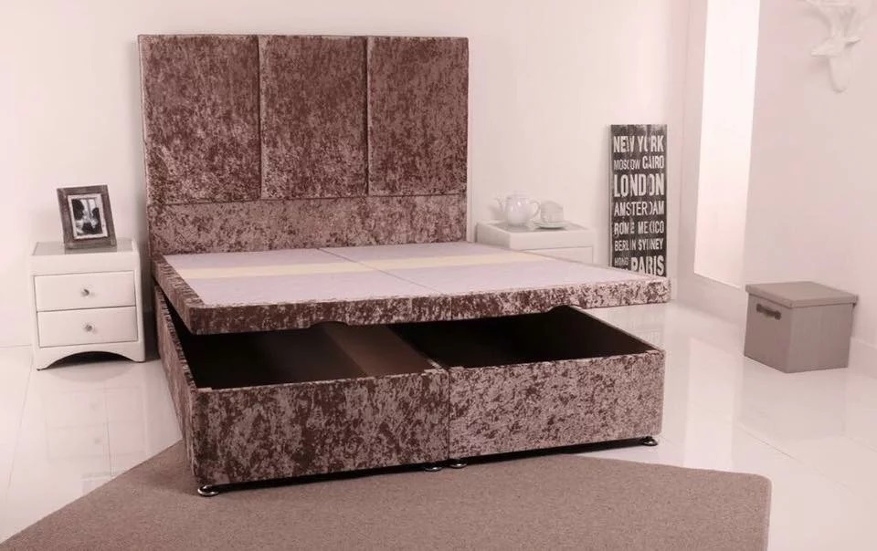 Marvelous Pristine Beds Vegas Upholstered End Lift Divan Ottoman Gmtry Best Dining Table And Chair Ideas Images Gmtryco